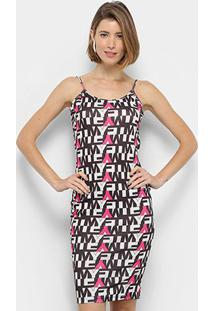 Vestido My Favorite Thing (S) Midi De Ribana Estampado - Feminino-Rosa