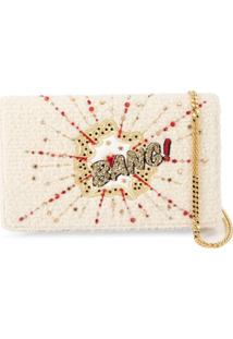 Preciously Clutch 'Bang' Bordada - Branco