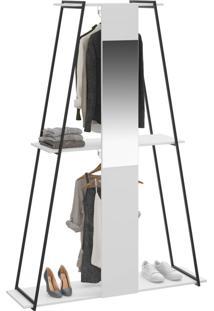 Closet Tog 2 Cabides Com Espelho Branco Tx - Bentec