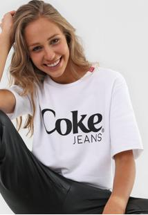 Camiseta Coca-Cola Jeans Estampada Branca - Branco - Feminino - Algodã£O - Dafiti