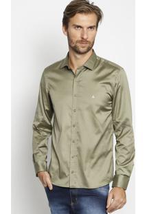 Camisa Lisa Extra Slim - Verde - Vip Reservavip Reserva