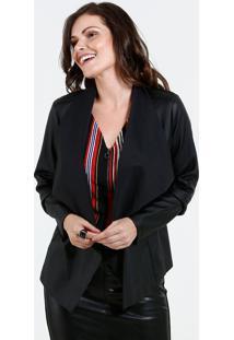 Jaqueta Feminina Sintético Assimétrico Marisa