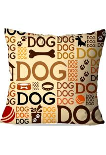 Capa Para Almofada Avulsa Decorativa Dog 45X45Cm - Multicolorido - Dafiti