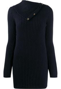 Saint Laurent Fold-Over Collar Jumper - Azul