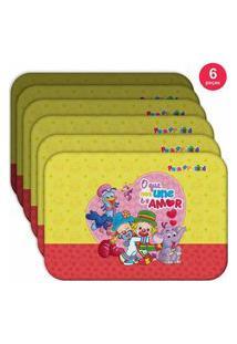 Jogo Americano O Que Nos Une É O Amor - Produto Licenciado Kit Com 6 Pçs