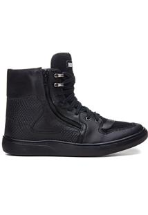 Tênis Sneaker All Black Feminino Rock Fit Rush