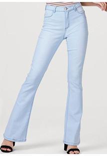 Calça Jeans Flare Hering Feminina - Feminino-Azul