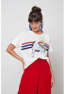 Blusa Oh, Boy! Listra Color Feminina - Feminino-Off White