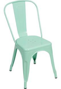 Cadeira Retrô- Verde Água- 86X36X35,5Cm- Or Desior Design