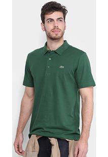 Camisa Polo Lacoste Super Light Masculina - Masculino-Verde Militar