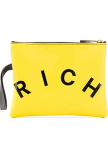 John Richmond Junior Clutch Com Estampa De Logo - Amarelo