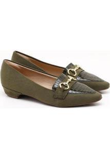 Sapatilha Charlote Shoes Camurça - Feminino-Verde Escuro