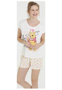 Pijama Feminino Short Doll Ursinho Pooh Disney
