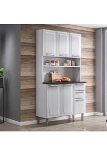 Cozinha Compacta Regina Ll 6 Pt 2 Gv Branca 105 Cm