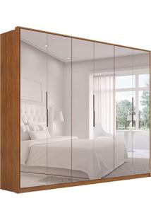 Guarda-Roupa Casal Com Espelho Atrice Ii 6 Pt 6 Gv Amêndola
