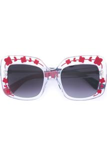 9a20329dd0533 Farfetch. Óculos De Sol De Sol De Grife Quadrado Feminino Gucci Neutro -  Eyewear