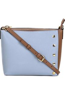 Bolsa Luz Da Lua New Ridge Feminina - Feminino-Azul+Caramelo