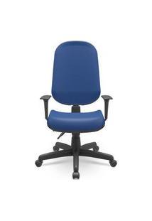 Cadeira Office Operativa Plus Presidente Azul 93Cm - 62725 Azul
