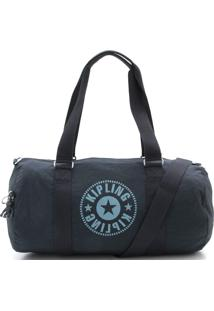 b3c5c9d70 ... Bolsa Kipling Silk Logo Duffle Onalo Sky Azul Marinho
