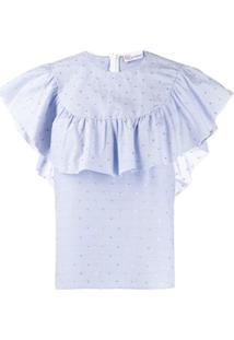Redvalentino Blusa Capa - Azul
