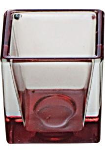 Castiçal Nellie 14X7Cm Vermelho Luvidarte