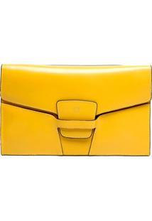 Clutch Capodarte Recortes Amarela