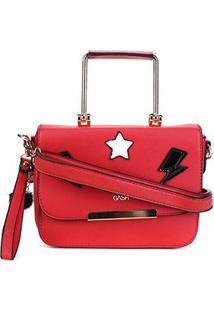 Bolsa Gash Mini Bag Nah Cardoso Feminina - Feminino-Vermelho