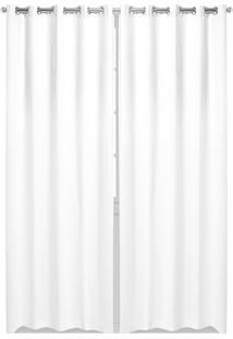 Cortina Bella Janela Rústica 4,20X2,50M Sevilha Branco