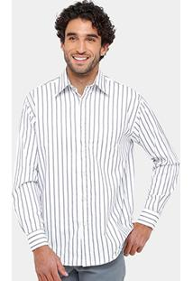 Camisa Blue Bay Listrada Bolso Masculina - Masculino