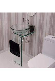 Gabinete Para Banheiro De Vidro Orfeu Astra Transparente