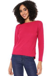 Suéter Mercatto Tricot Texturizado Rosa
