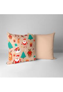Kit 2 Capas Para Almofadas Love Decor Decorativas Elementos Natalinos Cute