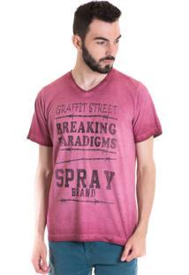 Camiseta Konciny Manga Curta Estonada 33004 Vermelho