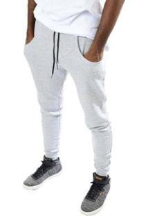 Calça Skull Clothing De Moletom Jogger Masculina - Masculino-Cinza