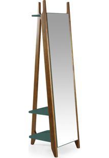 Espelho Stoka 169,5 Cm 988 Nogal/Azul Claro - Maxima
