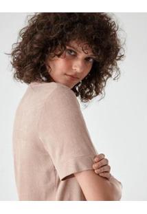 Blusa Básica Suede Feminina - Feminino