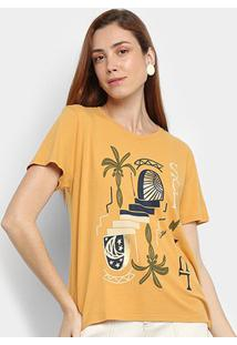 Camiseta Cantão Sol & Lua Manga Curta Feminina - Feminino