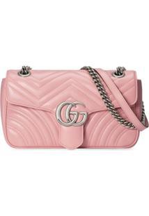 Gucci Bolsa Tiracolo Gg Marmont Pequena - Rosa