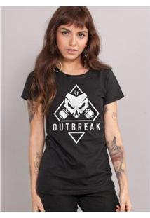 Camiseta Bandup! Rainbow Six Outbreak - Feminino-Preto