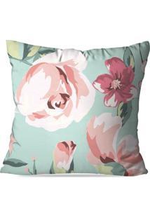 Capa De Almofada Avulsa Decorativa Floral Rose 35X35