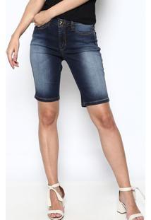 Bermuda Jeans Estonada - Azul Escuro - Osmozeosmoze