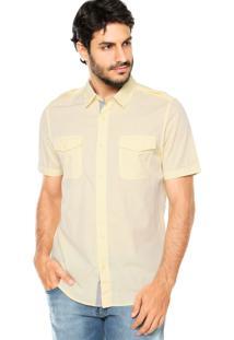 Camisa Guess Chambray Amarela