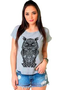 Camiseta Shop225 Coruja Tattoo Mescla
