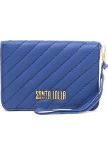 Carteira Santa Lolla Matelassê Azul