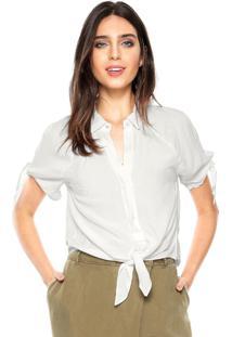 Camisa Lez A Lez Amarração Off-White