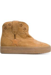 Golden Goose Deluxe Brand Ankle Boot De Couro - Marrom