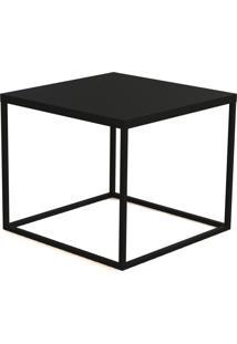 Mesa Cube Lateral Preto Artesano