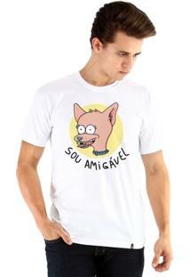 Camiseta Ouroboros Manga Curta Sou Amigável - Masculino