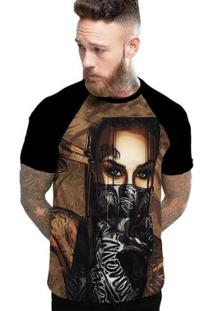 Camiseta Stompy Raglan Modelo 170 Masculina - Masculino-Preto