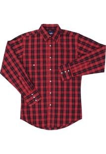 Camisa Xadrez Wrangler 21272 Vermelho